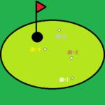 ゴルフ オリンピック グリーン上のパッティングのゲーム