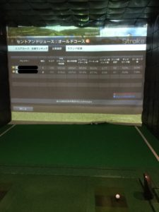 シュミレーションゴルフ記録