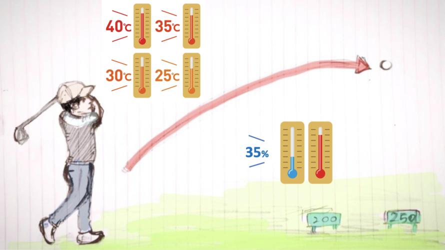 飛距離と湿気気温気圧の関係