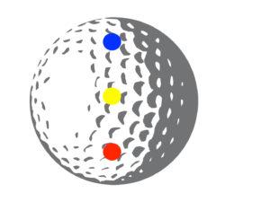 ゴルフボール ヒットポイント